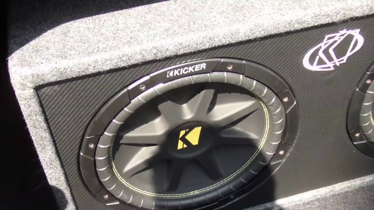"Kicker 12"" Dual 2-Ohm Subwoofers & Amp Car Audio - YouTube"