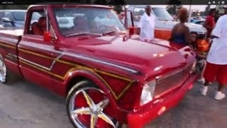 STL Cardinals truck on Foose Lusso spinners