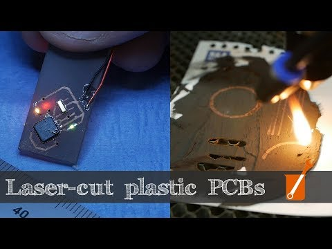 Make Plastic Printed Circuits With A Standard Laser Cutter