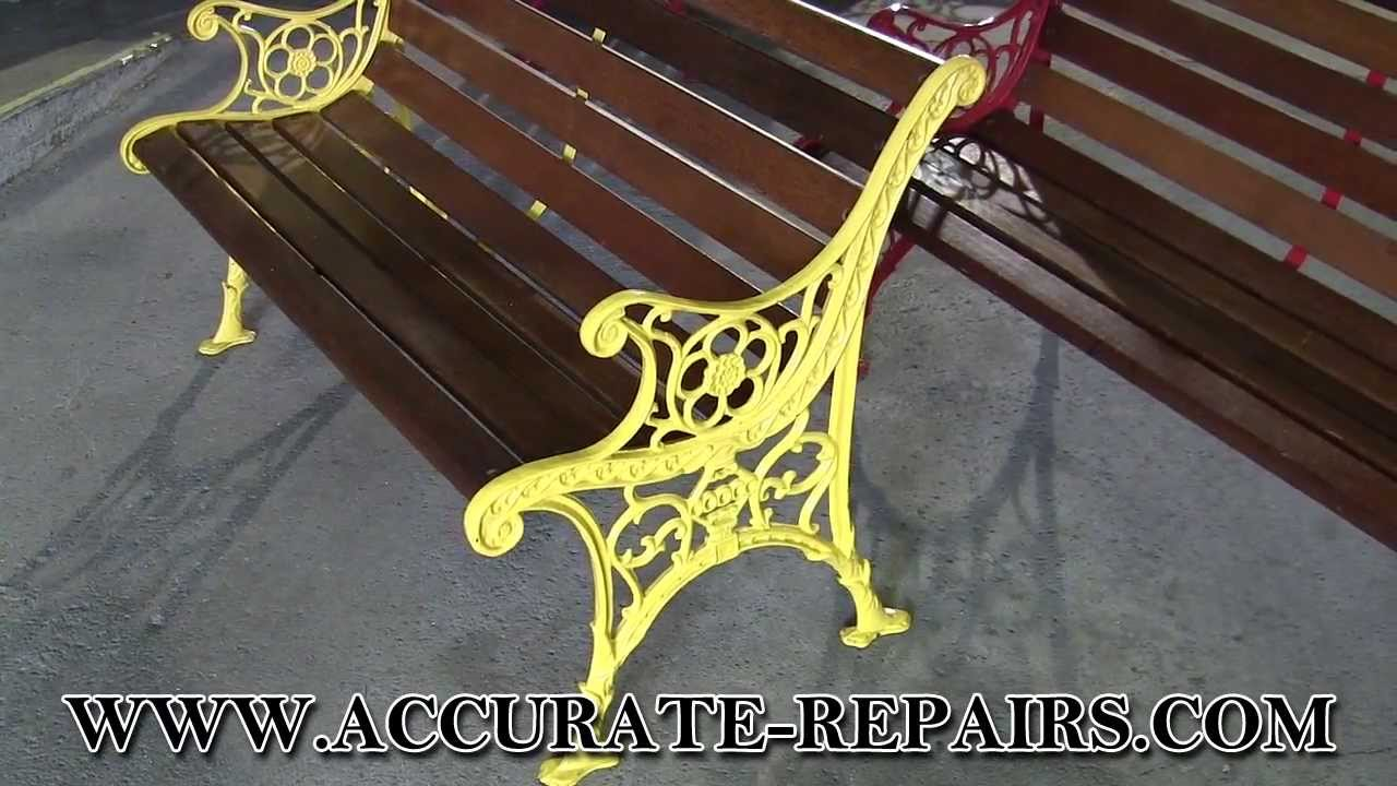 Various Outdoor Wood U0026 Cast Iron Benches   YouTube