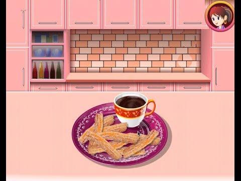 Churros con chocolate juegos de cocina con sara youtube - Juegos de cocina con sara paella ...