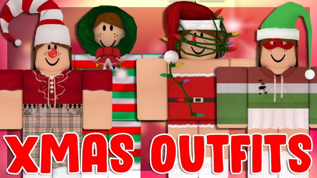 Ten Roblox Christmas Outfits With Links Youtube