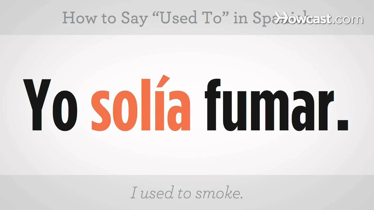 How to say i used to play in spanish