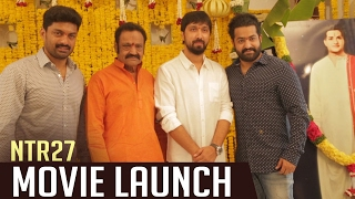 NTR 27 Movie Opening Video | NTR | Bobby | Kalyan Ram | DSP | TFPC