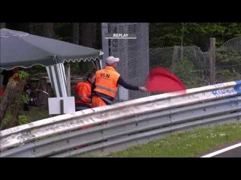 ADAC Zurich 24h 2016. 24 Hours of Nurburgring Nordschleife. Chaos Carnage & Red Flag