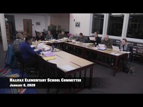 Halifax Elementary School Committee Meeting 2020/01/06