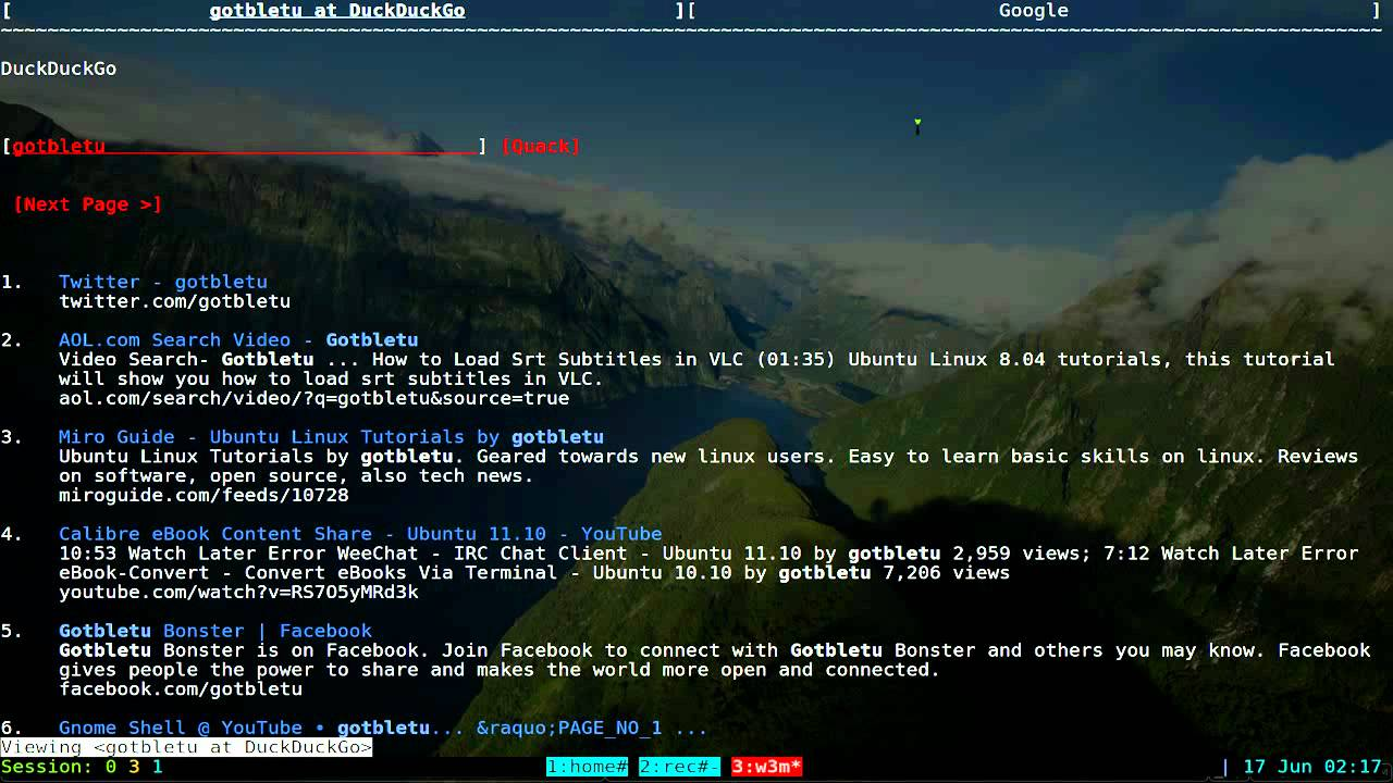 W3M - Text Based Web Browser - Linux TUI