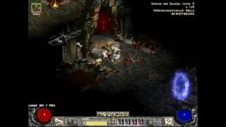 Diablo2 - Hell Mephisto vs naked Necromancer