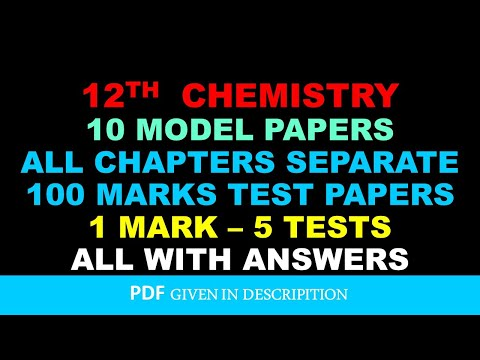 12 chemistry model and chapters test