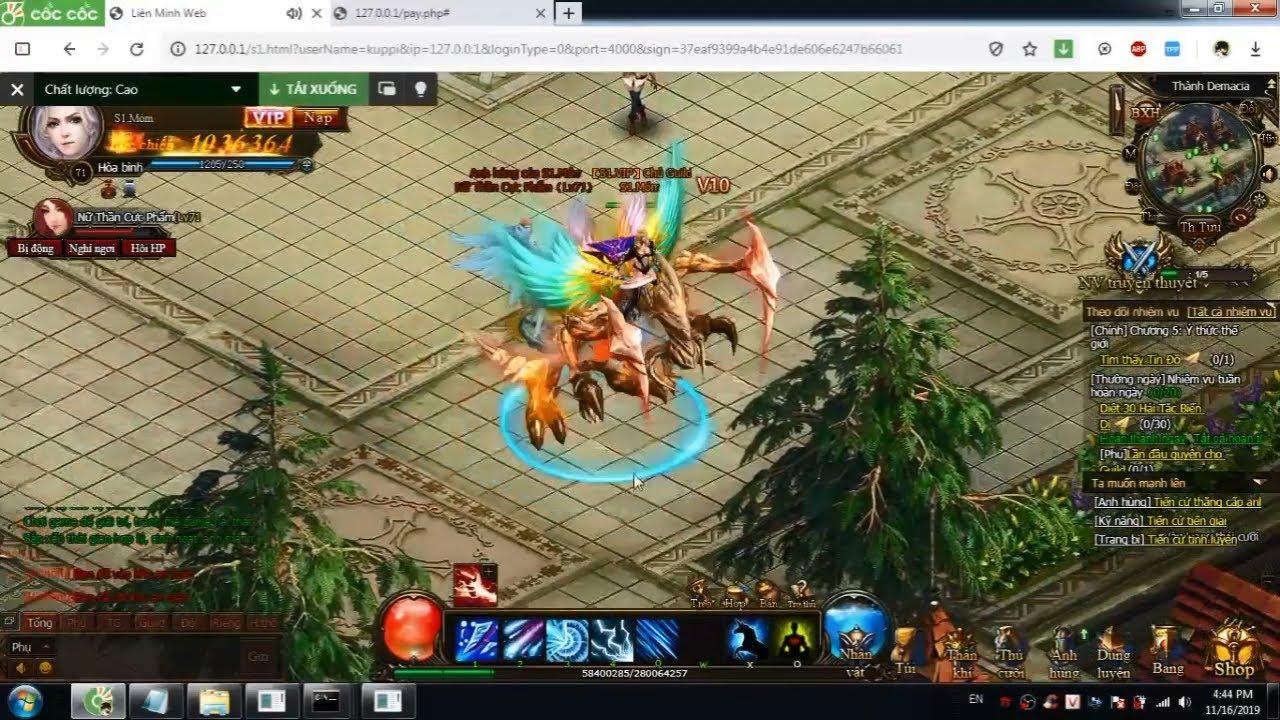Hướng Dẫn Cài Đặt Webgame Anh Hùng Liên Minh Offline Việt Hóa 100% | Móm Official