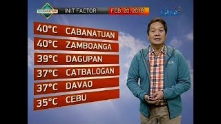Weather update as of 6:00 a.m. (February 20, 2018)