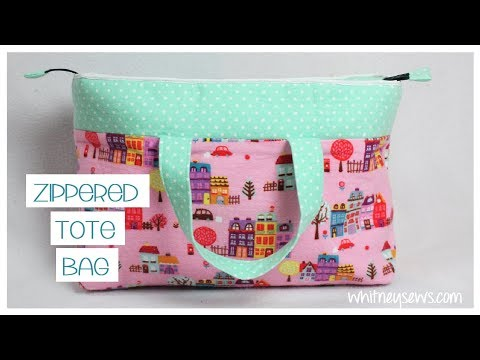 Tote Bag With Zipper Tutorial | Whitney Sews