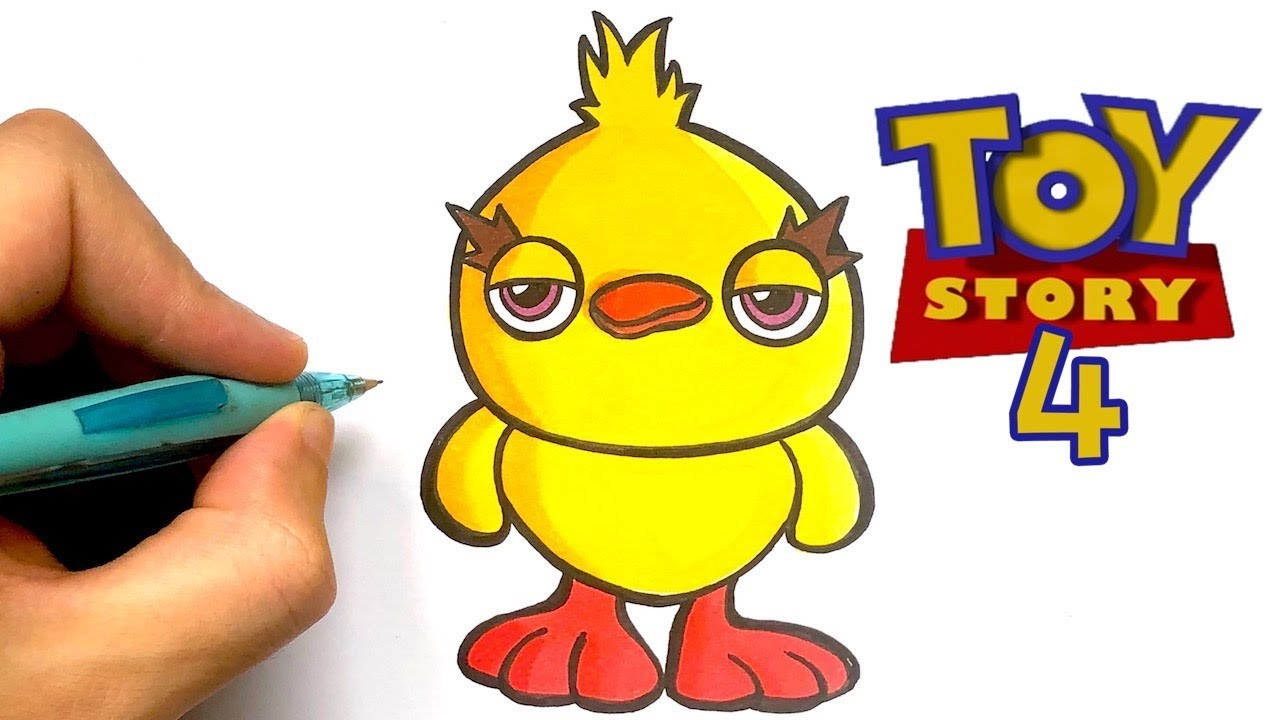 Comment Dessiner Le Poussin De Toy Story 4 Youtube
