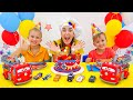 Vlad and Niki play with Disney Cars and celebrate Lightning McQueen Day