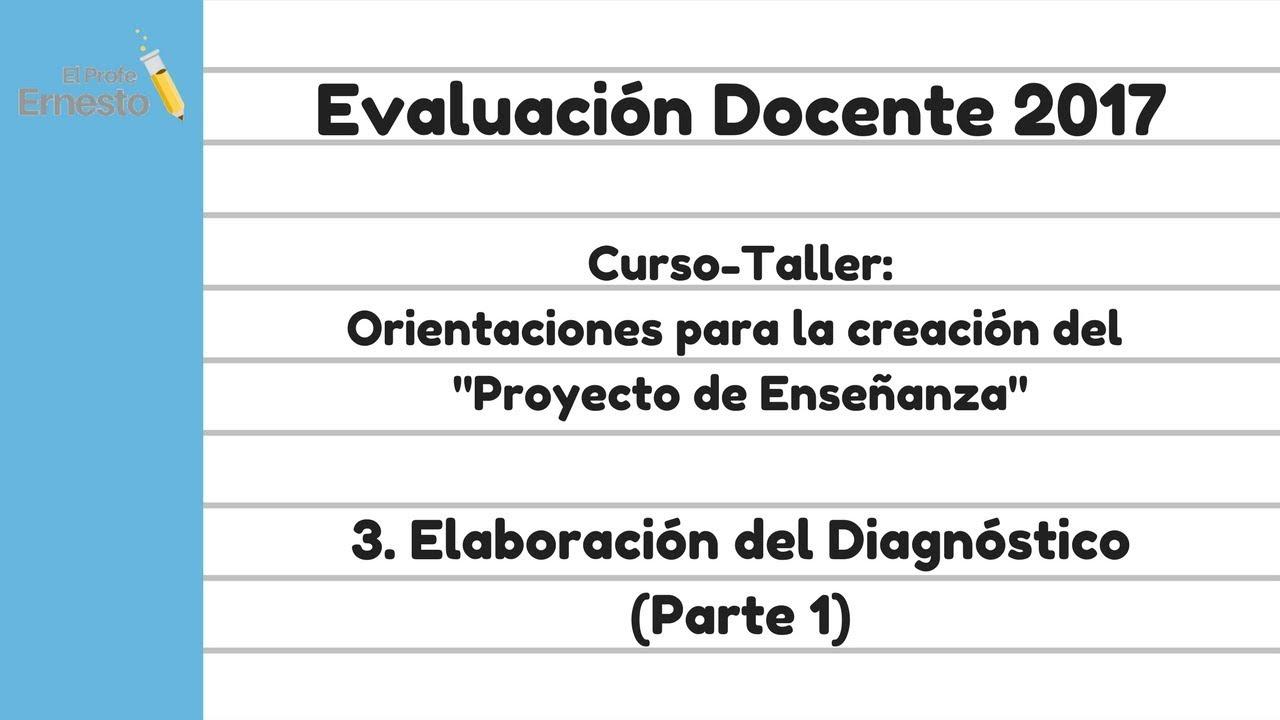 3 elaboraci n del diagn stico evaluaci n del desempe o for Examen para plazas docentes 2017