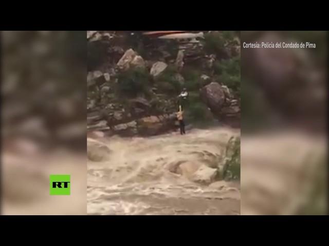 Rescate imposible en helicóptero durante una tormenta