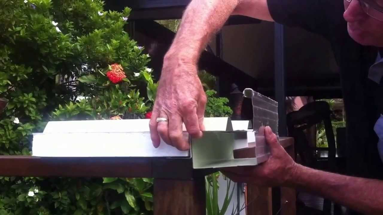 Insulated Panel Gutter Flashing Youtube