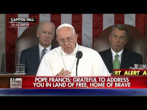 Pope Francis Reveals New World Order Agenda To Joint Session of Congress