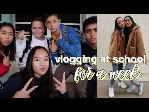 vlogging at school FOR A WEEK | Nicole Laeno