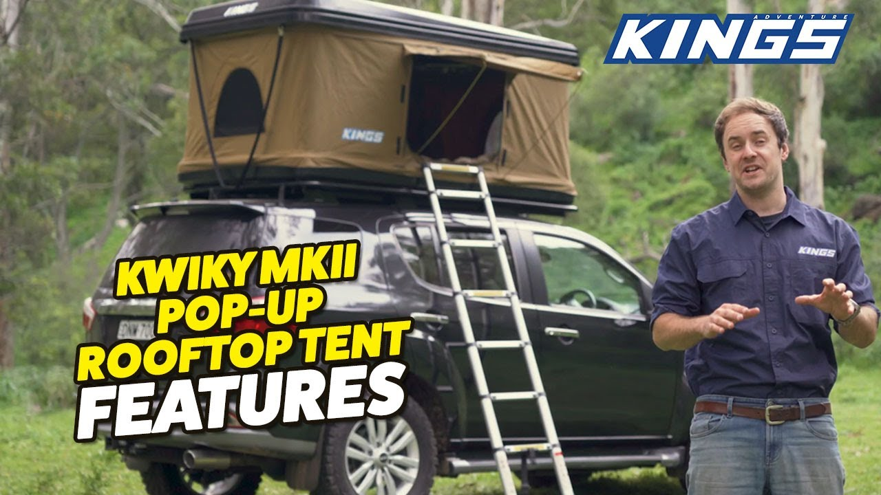 Introducing Kings Kwiky Mkii Hard Shell Rooftop Tent New Bracing System 2 Min Setup Youtube