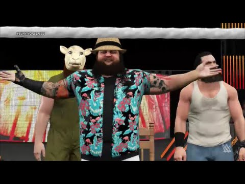 WWE 2K15 Universe Mode - The Anoa'i Family (Rock & Usos) vs The Wyatt Family (Survivor Series PPV)