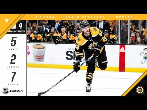 David Pastrnak nabs First Star of the Week