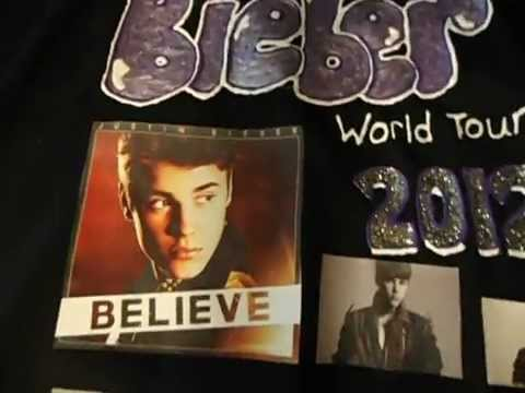 Justin Bieber Concert Shirt and Shoes