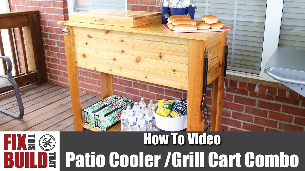 How To Build A Diy Patio Cooler Cart