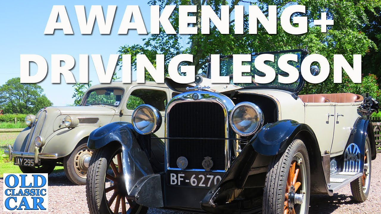 Starting the vintage Dodge car, plus a 1920s-style trip & driving lessons for a 13yr-old