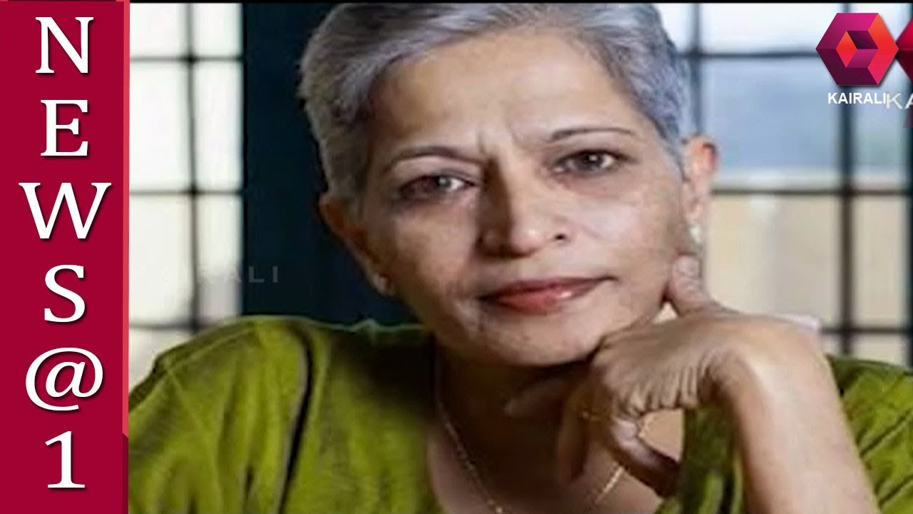 Gauri Lankesh Murder Case; Police Takes One In Custody