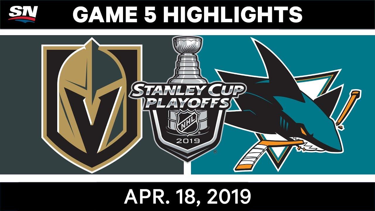 NHL Highlights | Golden Knights vs Sharks, Game 5 – April 18, 2019