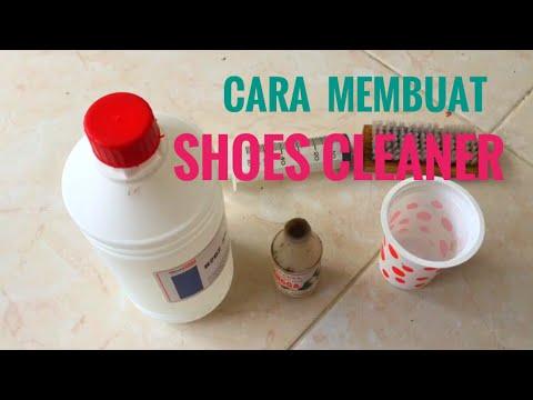 Membuat shoes cleaner / cairan pembersih sepatu sendiri
