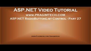 Asp.net radiobuttonlist control   Part 27