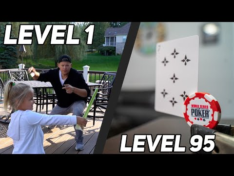 Level 1-100 Card Throwing Trick Shots