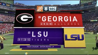 2018 #2 Georgia @ LSU Full Game