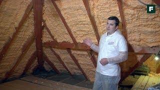 видео Утепление потолка пеной пенополиуретановой (ППУ): цена и технология напыления