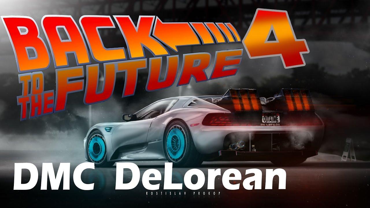 dmc delorean back to the future 4 movie cars rpdsgn