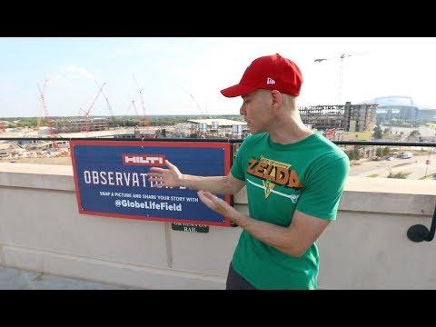 Texas Rangers New Stadium Under Construction -- Globe Life Field