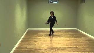 Linedance Lesson The Bomp  choreo. Kim Ray   Music (full speed)