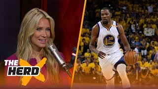 Kevin Durant apologizes for Twitter comments about Thunder - Kristine and Colin react | THE HERD