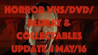 horror vhs dvd bluray collectables update for may 16