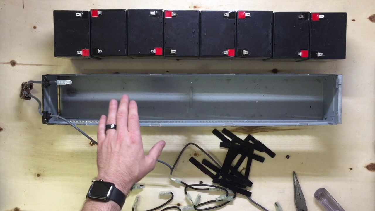 Apc Rbc44 Battery Replacement Diy Youtube Rbc43 Wiring Diagram