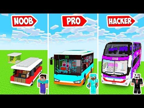 Minecraft MODERN OMNIBUS STATION CHALLENGE in Noob vs Pro Animation