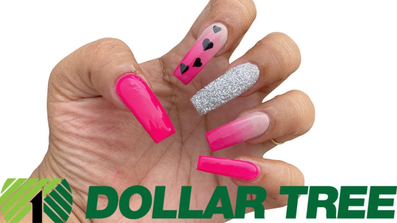 DOLLAR TREE ACRYLIC NAILS AT HOME ALL PRODUCTS ONLY $1 - *NOT CLICKBAIT* STEP BY STEP HOW TO