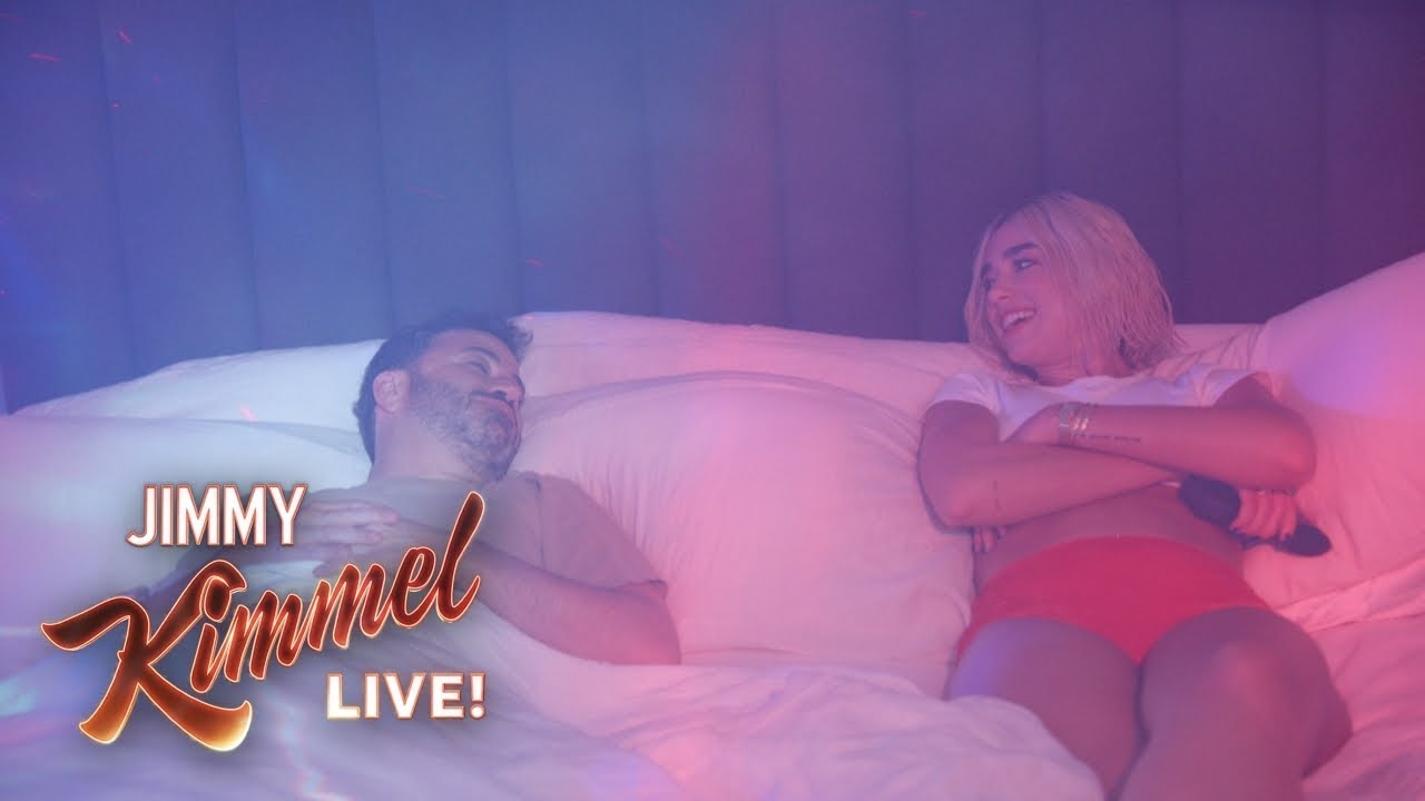 Dua Lipa Hosts 'Jimmy Kimmel Live,' Chats With Gwen Stefani ...