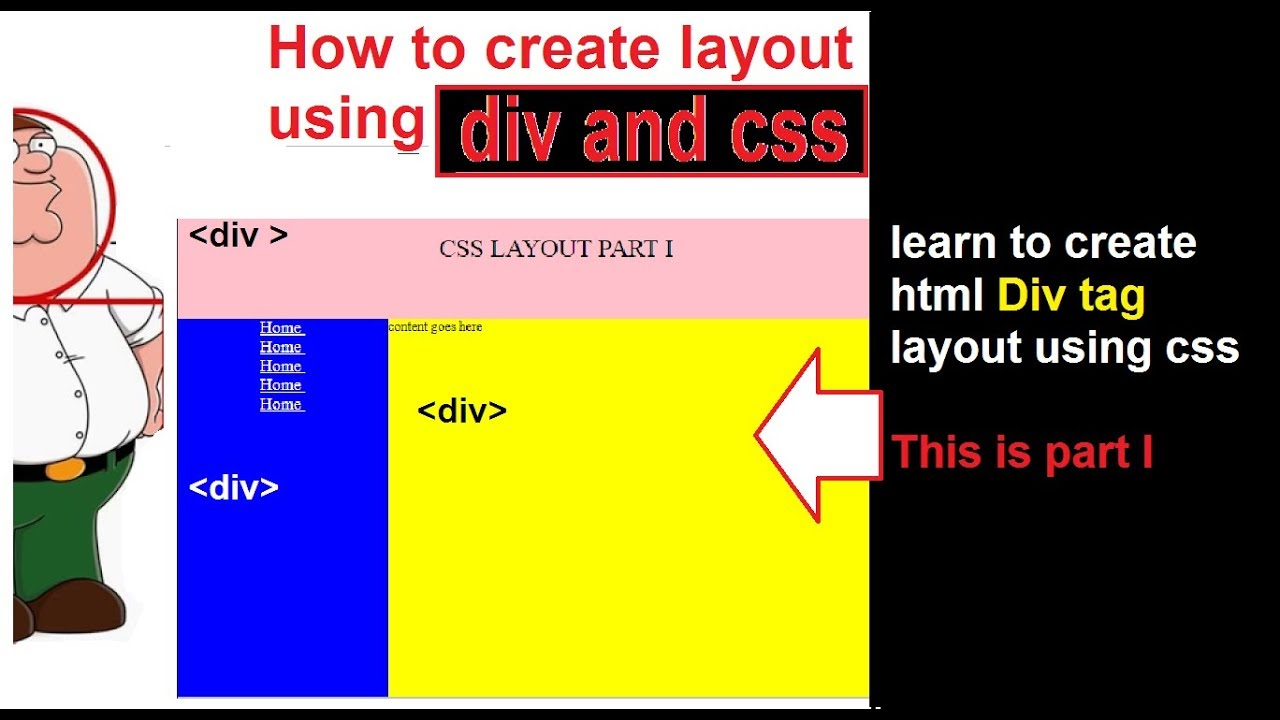 html css layout tutorial part-I | Div Layout practice | html ...