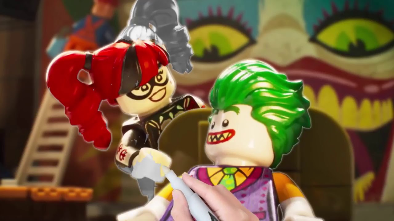 The Lego Batman Movie Batman Robin Superman Batgirl Harley Quinn Joker Coloring Pages Youtube