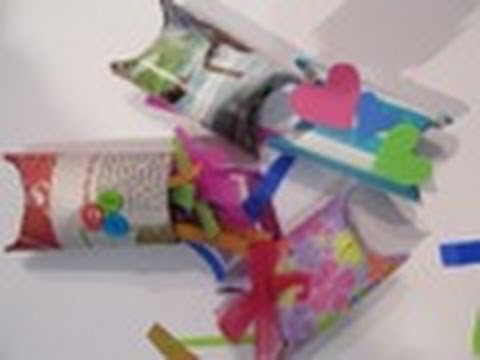 Pillow box con tubos de cart n floritere 2011 youtube - Tubos de carton ...