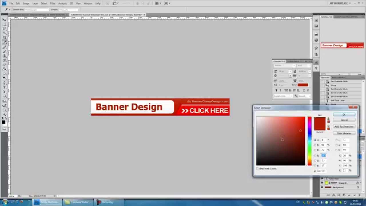 Design for banner using photoshop - Editing Text In You Banner Design Using Photoshop