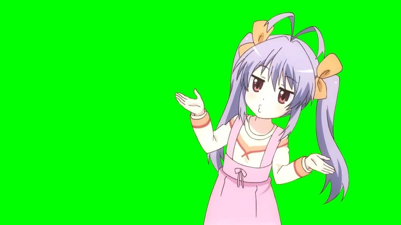 chroma key  miyauchi renge  u201cwhoof  u201d  non non biyori repeat  - green screen